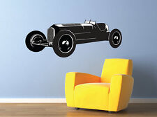 """Vintage Roadster Race Car Wall Decal Childs Room PRINT & CUT Vinyl 25""""x10"""""""