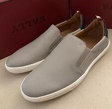 New $510 Bally Men Orniel Leather Sneakers Shoes Gray ( Wheat ) 8 US Switz.