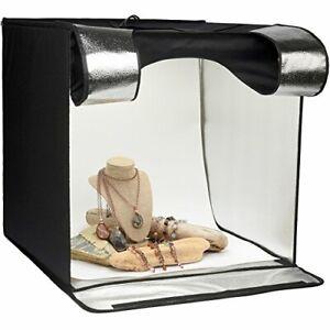 "Smith-Victor 24"" Desktop LED Light Box Studio Tent 4 Backgrounds & Case"
