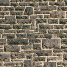 # 16  SHEETS STONE wall O gauge 1/43  20x28cm EMBOSSED BUMPY landscape PAPER