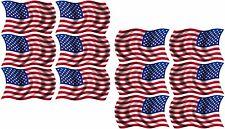 "12 - 2""x1.2"" American Wavy Decal US USA United States Hard Hat Helmet Sticker RL"