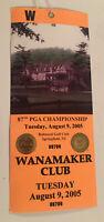 87th PGA Championship 2005 Tuesdat Aug 9th Wanamaker Club Baltusrol Golf Club NJ
