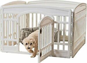 IRIS USA, Inc. Pet Playpen Exercise 24 Inch Panel Door Dog Kennel