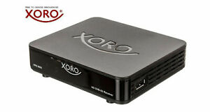 Mini Sat-TV-Receiver  FULL HD DVB-S2 XORO HRS 8655 HDMI, 12V, USB-Mediaplayer