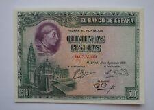 More details for 1928 spain banco de españa 500 pesetas banknote uncirculated
