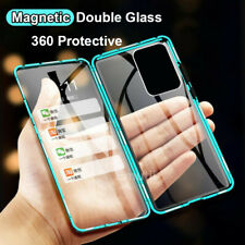 For Samsung Galaxy S20 FE 5G Magnetic Metal Double Tempered Glass Cover Case