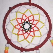 RED 20 INCH SEED BEAD HAND BEADED DREAM CATCHER feathers dreamcatcher handmade