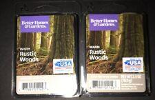 2  BETTER HOMES & GARDENS Wax Melts WARM RUSTIC WOODS 2.5 Oz Each