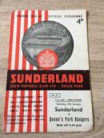 Sunderland v Queens Park Rangers FA Cup 1956/57
