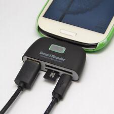 4in1 OTG/TF/SD Lettore Smart Card Mini adattatore con Micro USB PORTA CARICA per telefono