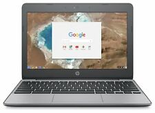 HP Chromebook 11.6 Inch Celeron 4GB RAM 16GB eMMC Laptop - Black