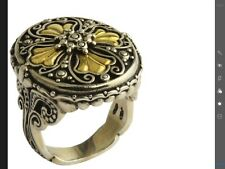 NEW Konstantino sterling Silver +18k Ring Sz 8.5 EROS Collection