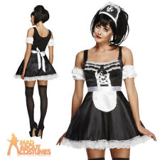 Adult Flirty French Maid Costume Ladies Fancy Dress Outfit Fever 8 - 16 Large