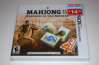 Mahjong 3D Warriors of the Emperor Nintendo 3DS Video Game New Sealed