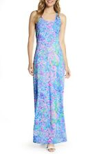 New Lilly Pulitzer Treena Maxi Dress Multi All Together Now Print Sleeveless L