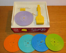vintage FISHER PRICE MUSIC BOX RECORD PLAYER japan TOYS musical mouvement 1971