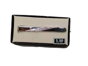 Tie Clip Silver Colored Mid Century $1.50 New in box