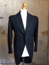 Vintage Bespoke 1930's Black Morning Coat Size 36