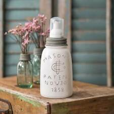 White Midget Pint Mason's 1858 Fruit Canning Jar FOAMING Soap Dispenser Gray Lid