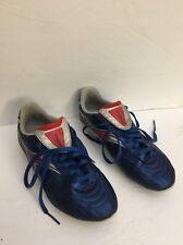 Youth Diadora Soccer Cleats Size 4 Blue/Silver/Red-Unisex-Cl eaned-Ship In 24 Hrs