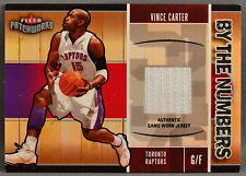 03-04 Fleer Patchworks Vince Carter NBA GAME JERSEY 2003 2004 TORONTO RAPTORS