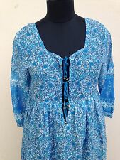 karni collection new blue flower screen best beautiful dress vintage new look