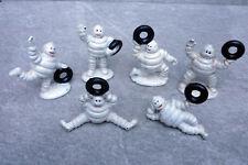 Michelin Man Figures Set Of 6 Cast Iron Retro Vintage Tyre Advertising Bibendum