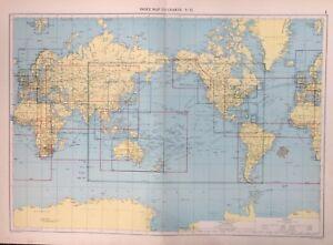 Index Map To Charts, 1952 Mercantile Marine Atlas, Philip