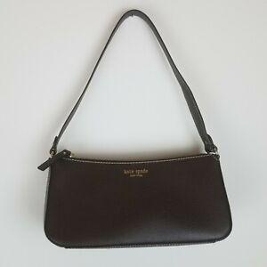 "Kate Spade Mocha Brown Purse Handbag Zippered 5"" x 10.5"""