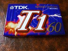 CASSETTE TAPE BLANK SEALED - 1x (one) TDK T1 60 - normal position