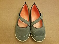 Ecco Women Shoes Gray Flats Slip On Sport Mary Jane Loafers Size 41 US 10 - 10.5