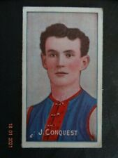 "JAMES CONQUEST- ( MELBOURNE )-1908/09  Sniders & Abrahams Series ""D"" - VGD+/EXC"