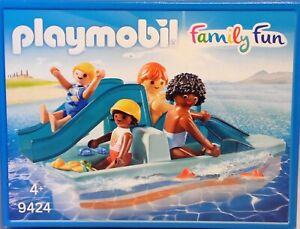 Playmobil 9424 Tretboot Familie Vater Mutter 2 Kinder Badelatschen NEU