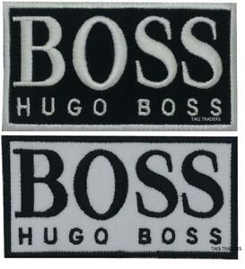 Hugo Boss Luxury Fashion House Black and White Iron on Sew on Embroidered Patch