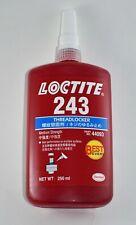 Loctite 243 Threadlocker Medium Strength 250ml tube. Expiration date 12/2022