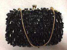 Vtg Walborg Richere Beaded Evening Bag Kiss Lock Framed Convertible Clutch