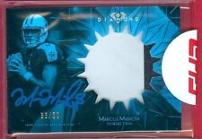 2015 TOPPS DIAMOND FB Marcus Mariota SP BLUE AUTO/2-COLOR PATCH RC CARD #d 35/50