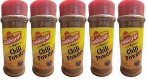 Gebhardt Chili Powder, 3 ounces Pack of 5 NEW