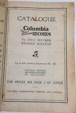 Original Columbia Records Catalogue Supplement #102 Vintage Music Circa 1930