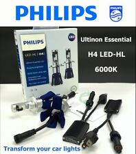 Genuine PHILIPS LED-HL H4 6000K Ultinon Essential LED Car Light Bulb x 2 #gtc