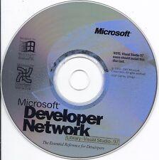 Microsoft Developer Network library Visual Studio 97 CD