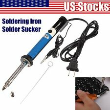 2in1 30W 220V Soldering Iron PCB Solder Sucker Desoldering PUMP Removal Tool