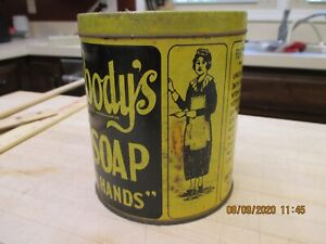 Vintage Everybodys Hand Soap Tin  Can With Soap Workwear Maid USA