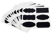 Etiketten 12 Bögen mit 6 Motiven schwarz selbstklebend abwaschbar Gastlando