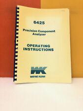 Wayne Kerr 6425 Precision Component Analyzer Operating Manual