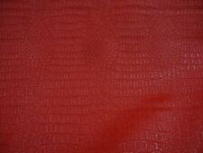 Red matte gator upholstery Faux vinyl bags pillow auto commercial ROLLED