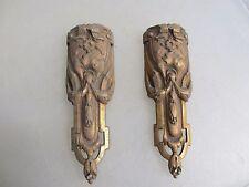 Victorian Brass Furniture Ormolu French Hardware Gilt Husks Rococo Georgian Old