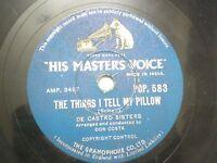 """DON COSTA DE CASTRO SISTERS POP 583 INDIA INDIAN RARE 78 RPM RECORD 10"""" VG+"""