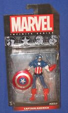 "Marvel Universe Captain America Figure 2013 Hasbro 4"" MOC Avengers SHIELD 1/18th"