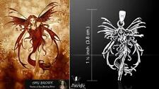 Fire Element Fairy Pendant Amy Brown sterling silver fantasy artist Peter Stone